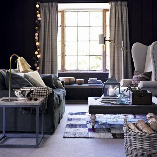 Dark Blue Living Room Zion Star