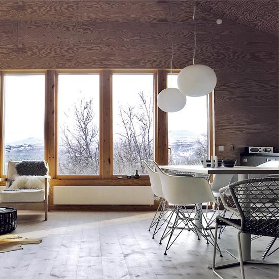 Open Dining Room: Open-plan Wooden Dining Room