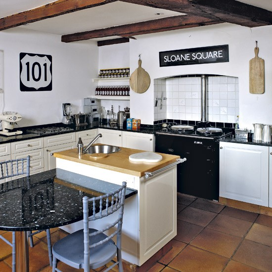 Modern Country White Kitchen