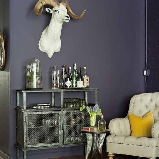Bar For Living Room: Quirky Living Room Corner With Mini-bar