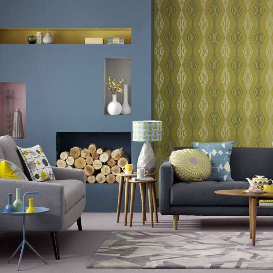 Yellow Living Room: Blue And Yellow Living Room