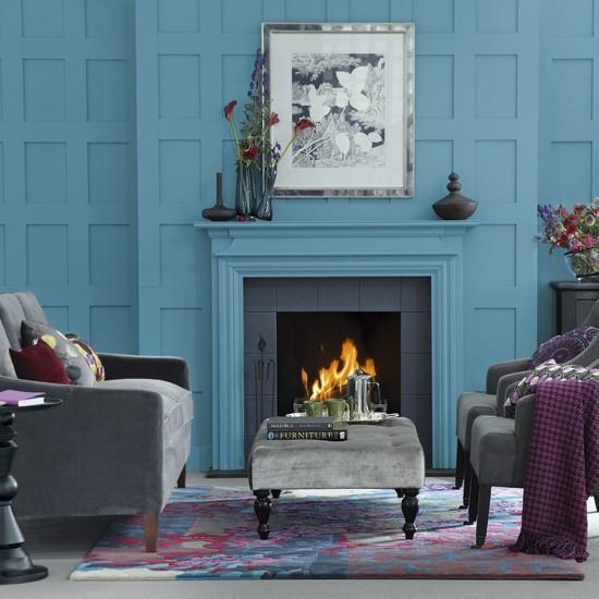 Teal Living Room: Teal Blue Living Room