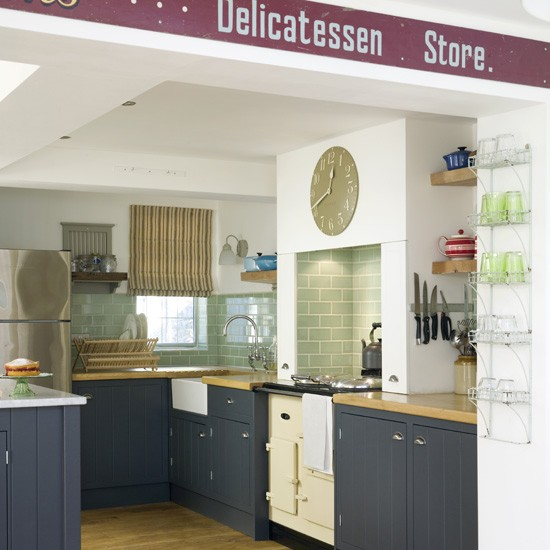 Blue Country Kitchen Country Kitchens Housetohome Co Uk