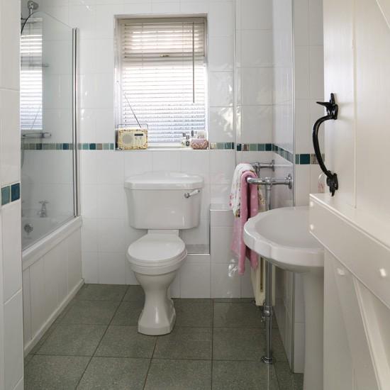 Bathroom Ideas White Tiles: Small White Bathroom