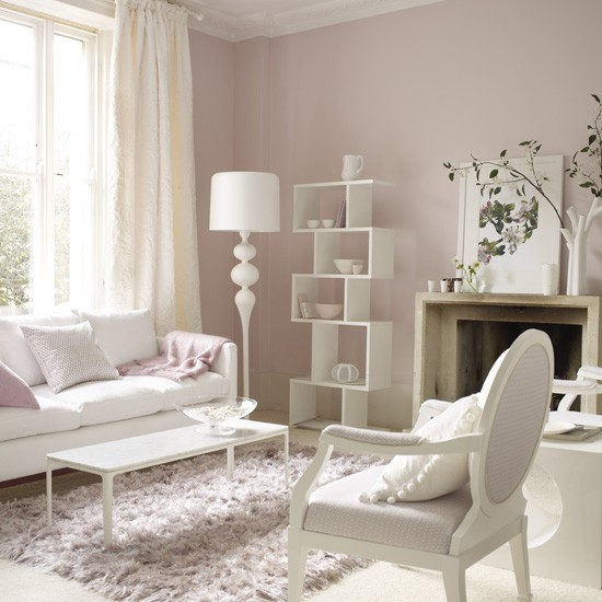 Pink Living Room Ideas: Traditiaonal Living Rooms