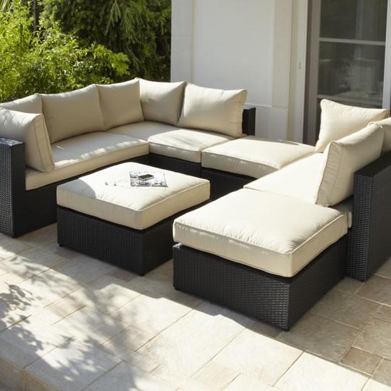 Rattan Modular Sofa And Footstool From Argos Garden