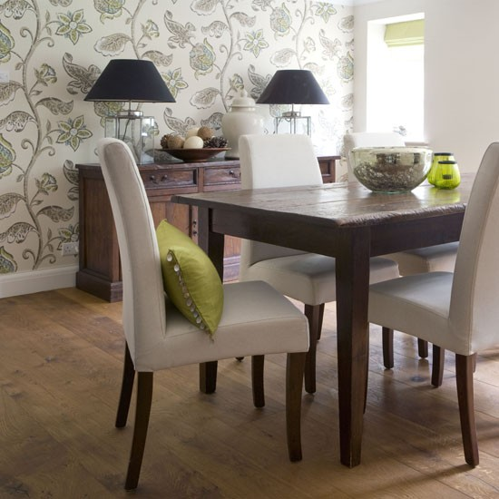 Dining Room Wall Paper: Botanical Print Feature Wall