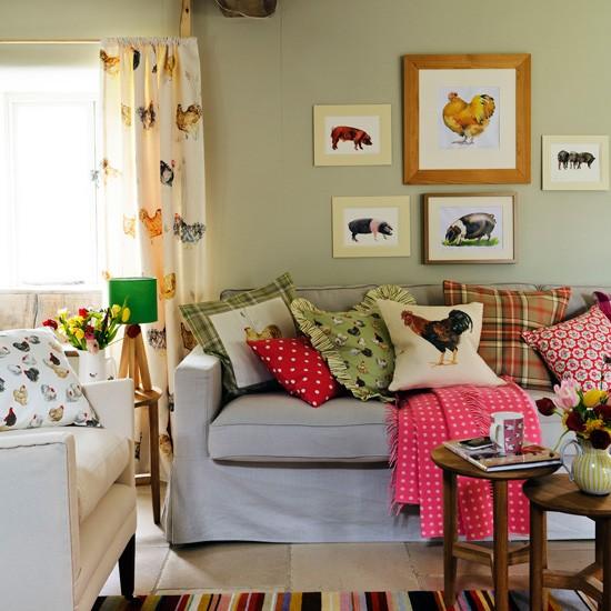 Living Room Modern Country Designs: Inspire-se. Decorando Com Almofadas