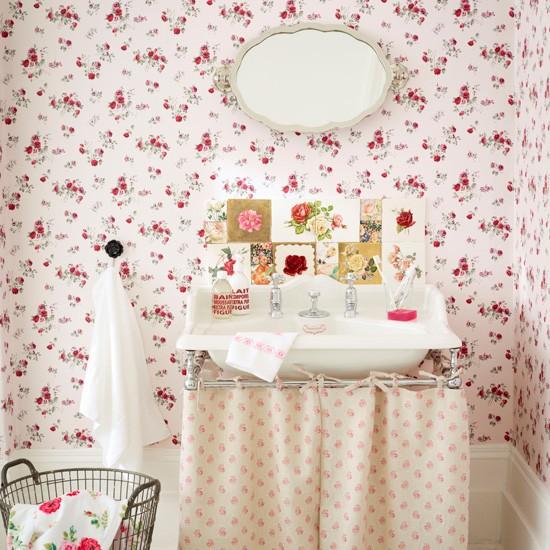 Vintage Rose Bathroom Country Bathroom Designs