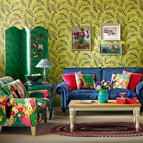 Colorful Bohemian Rooms: Colourful Living Room Ideas