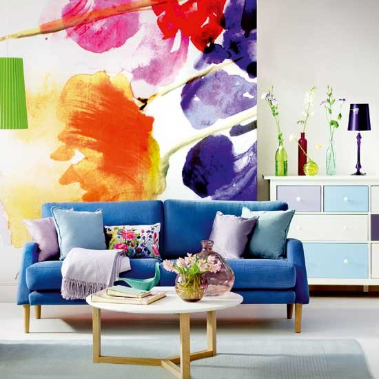 Bold Room Designs: Bold Floral Living Room
