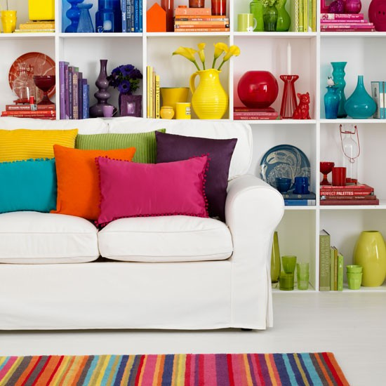 Rainbow Room: Rainbow-bright Living Room