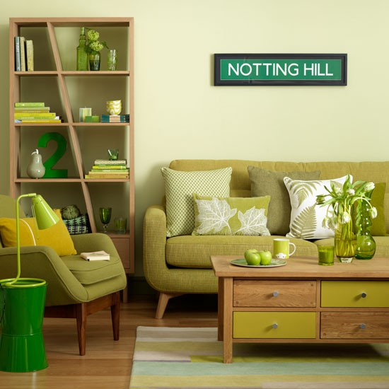 Green Living Room Ideas For Soothing Sophisticated Spaces: Relaxing Green Living Room