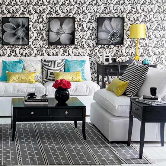 Classic Monochrome Living Room