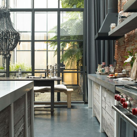 Modern Industrial Style Combines Aesthetics With: Modern Industrial Kitchen