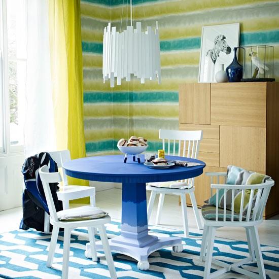 Fresh Striped Dining Room
