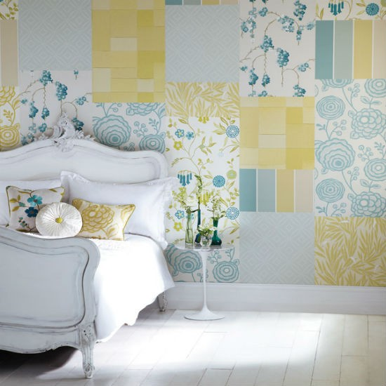 Wallpaper Design For Bedroom: Create A Patchwork Feature Wall