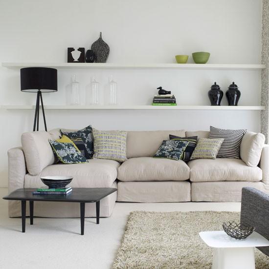 use shelves for storage or display family living room design ideas. Black Bedroom Furniture Sets. Home Design Ideas