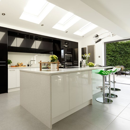 Open Contemporary Kitchen Design: Modern Kitchen Extension