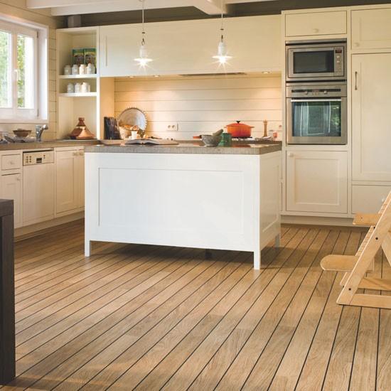 Flooring For Kitchen: Quick-Step Varnished Oak Laminate