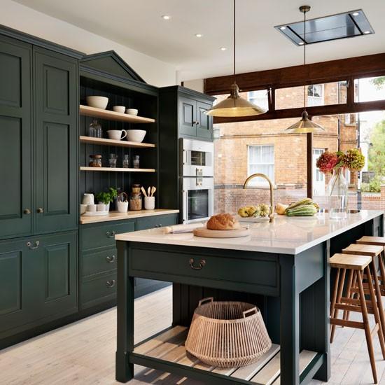 Dark Brown Chalk Paint Kitchen Cabinets: Painted Kitchen Design Ideas