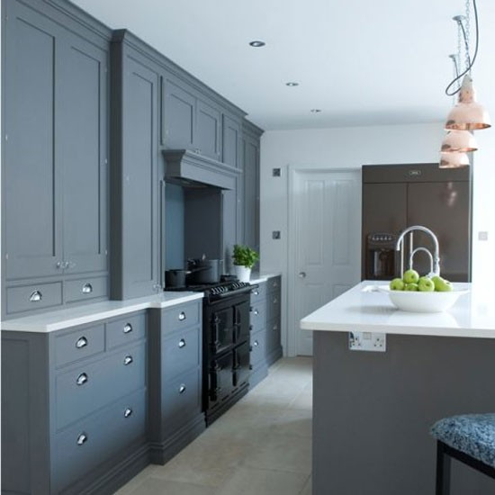 Painted Gray Kitchen Cabinets: Kitchen, Bathroom, Bedroom, Living Room And Garden Design