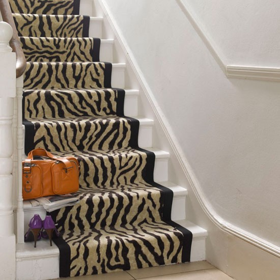 Animal Print Rug Runners For Stairs: Staircase Design Ideas
