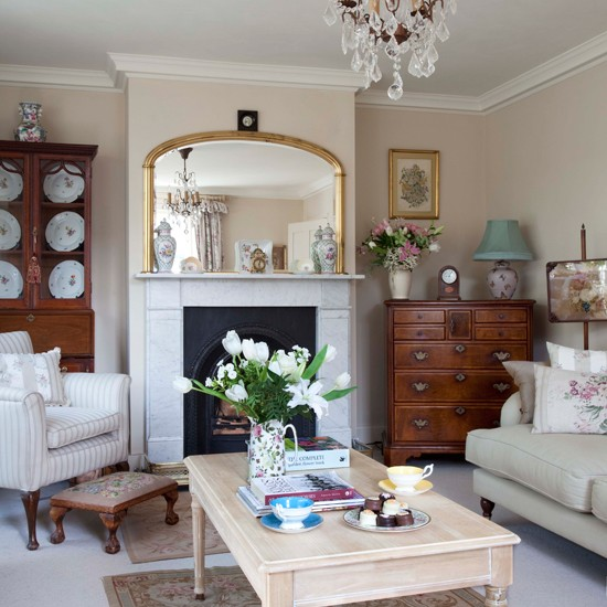 Cream Traditional Living Room