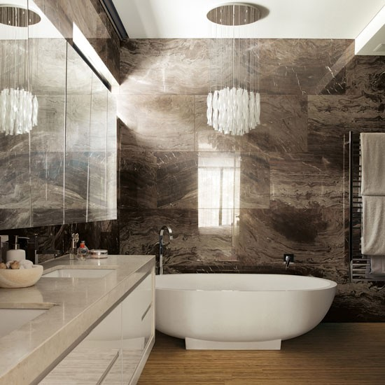 Marble Bathrooms Photos: Housetohome.co.uk