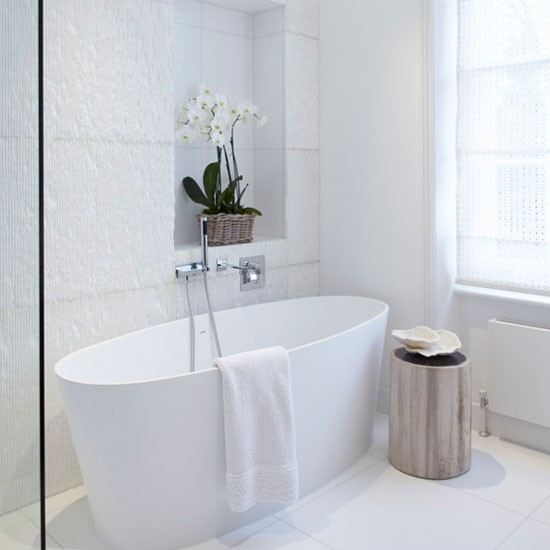 White Bathrooms Can Be Interesting Too: Housetohome.co.uk
