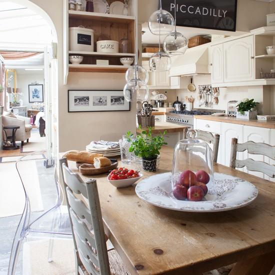 French Farmhouse Kitchen Design: French Farmhouse-style Kitchen-diner