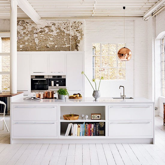 Simple White Kitchen Cabinets: White Kitche... : ベージュ×白。フレンチ