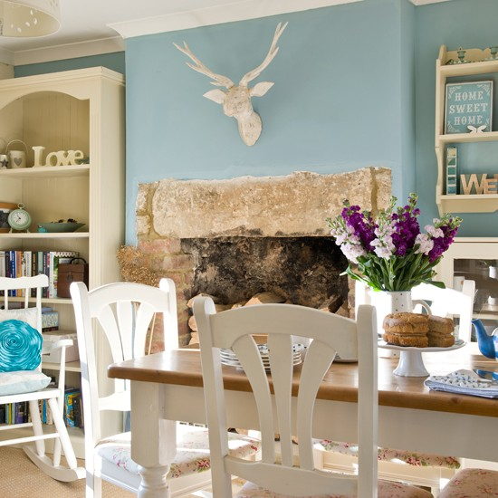 Blue Dining Room Decoration: Duck-egg Blue Dining Room