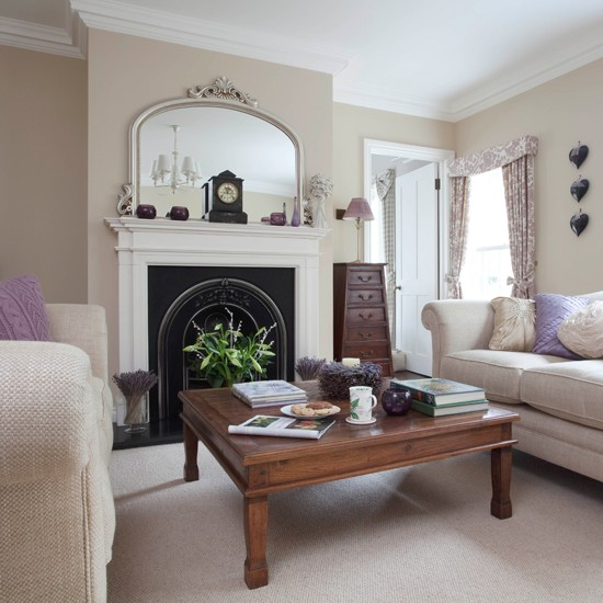 Neutral Living Room Ideas: Neutral Period Living Room