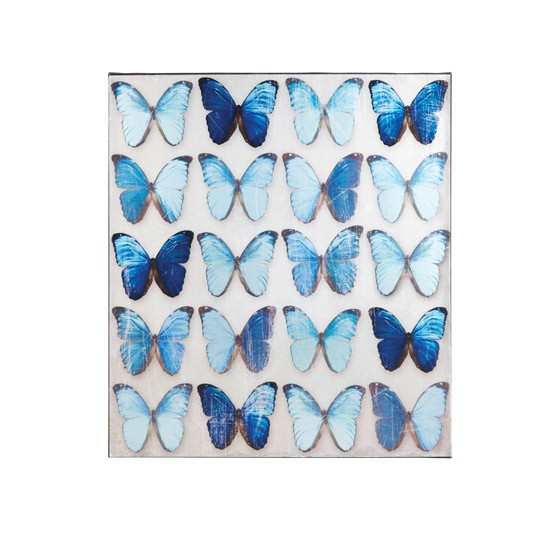 Metallic butterfly wall canvas by homebase wall art 10 - Butterfly wallpaper homebase ...