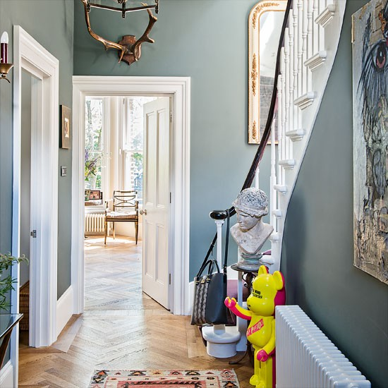 Hallway Decorating Ideas House: Classic Grey Hallway With Quirky Accents