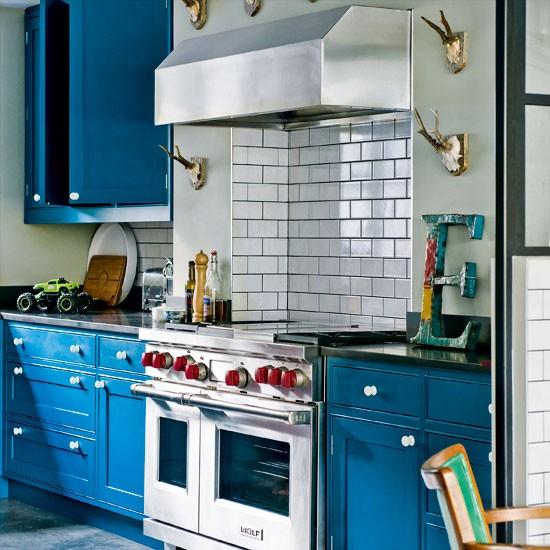 Modern Blue Painted Kitchen