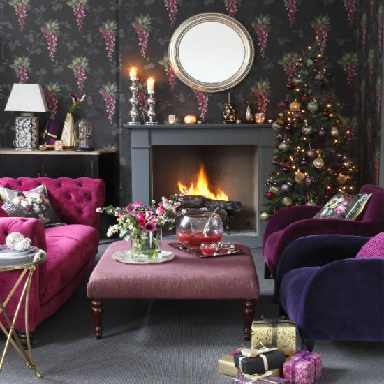 10 Living Rooms We Love: Christmas Living Room Decorating Ideas
