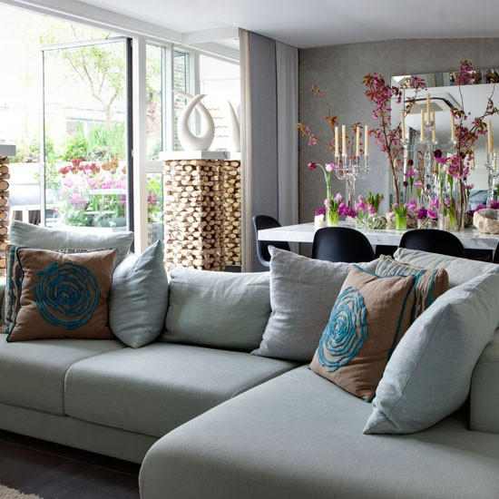 Corner Sofa Room Designs: Living Room With Corner Sofa