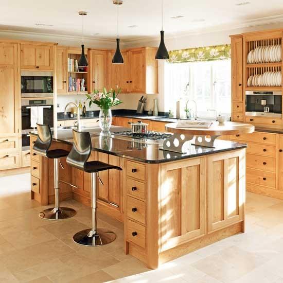 Sleek black and wood kitchen traditional kitchens - Black and wood kitchen ...