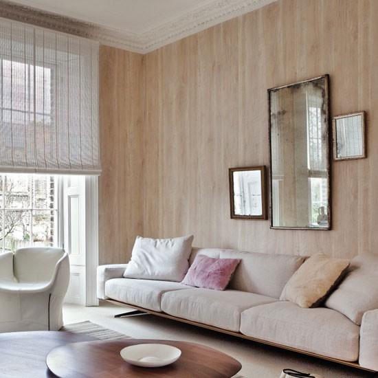 Neutral Wood-effect Wallpaper