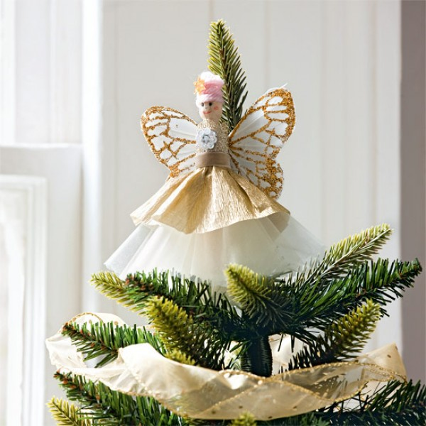 How To Make Style At Home S Pretty Christmas Tree Fairy