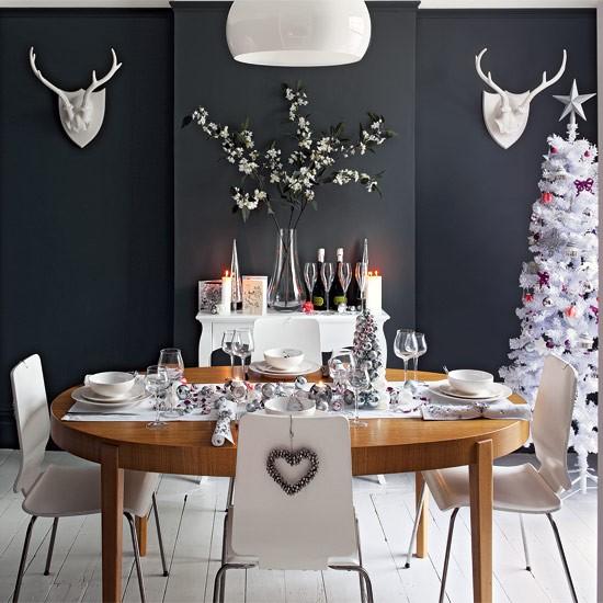 Christmas Dining Room Ideas To Add A Flourish To Christmas: Glamorous Christmas Dining Room Ideas
