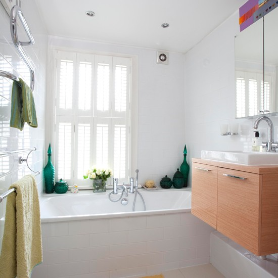 House Beautiful Bathrooms 2015: White Traditional Bathroom