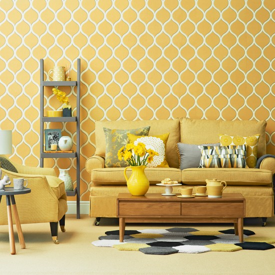 Bright Yellow Living Room Housetohome Co Uk