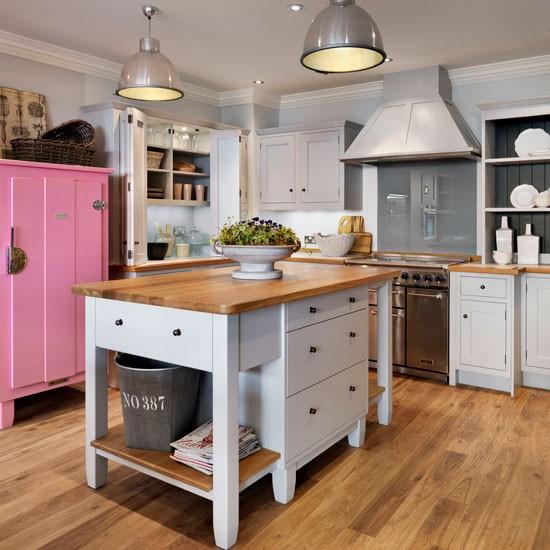 Painted Kitchen Island Ideas: Painted Freestanding Island