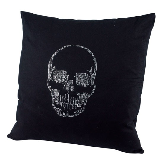 Diamante skull cushion from Dwell | Gothic shopping trends ...