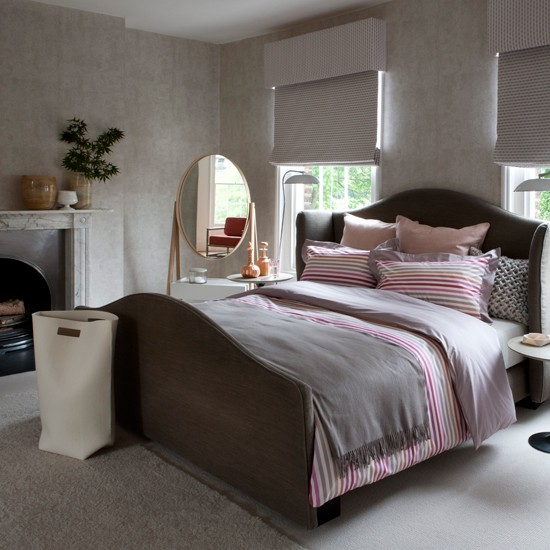 Grey Bedroom Decorating: Decorating Ideas - Traditional