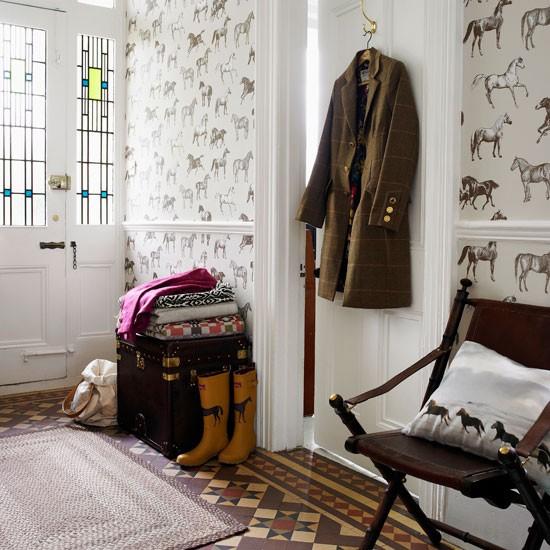 hallway design ideas | housetohome. - Hallway Wallpaper Ideas