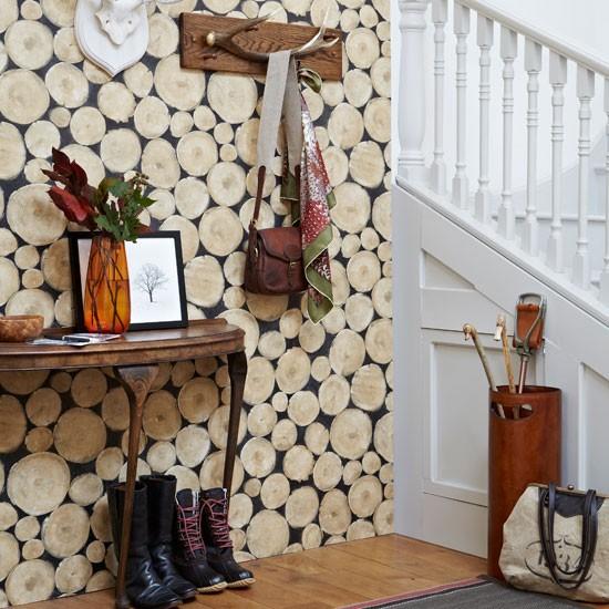 Create a rustic hall | Country hallway ideas | housetohome. - Hallway Wallpaper Ideas